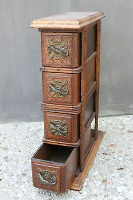 Art Deco Antique Tailor's Sewing Cabinet
