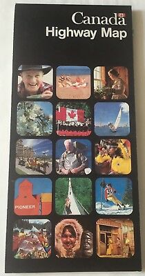 Canada Highway Map Used