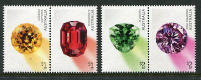 2017 Rare Beauties! Extraordinary Gemstones - MUH Set of 4 Stamps