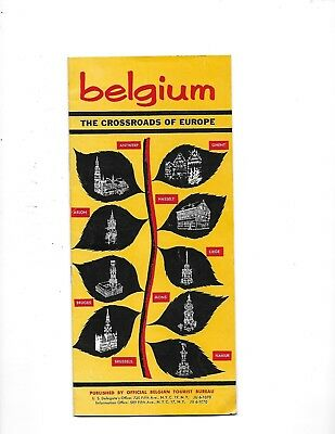 1960 BELGIUM THE CROSSROADS OF EUROPE BROCHURE Tourist Bureau