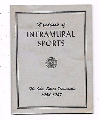 1956 Handbook Of Intramural Sports The Ohio State University Columbus OH