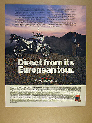 1989 Honda Transalp XL600V Motorcycle photo vintage print Ad