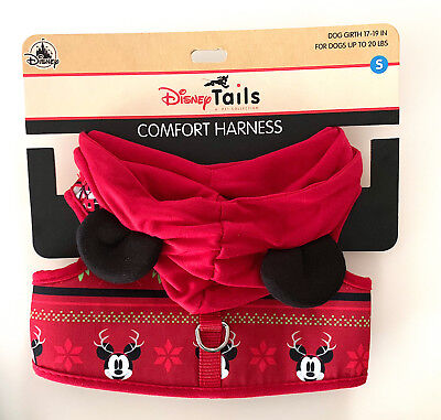 Disney Parks Mickey Mouse Christmas Holiday Dog Harness Small NEW