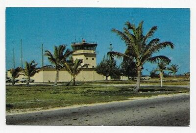 WAKE ISLAND Air Traffic Control Tower Unposted Post Card #1081