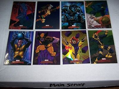 Lot of 8 Marvel Masterpieces 2007 X-men Chase Insert cards set missing only X5