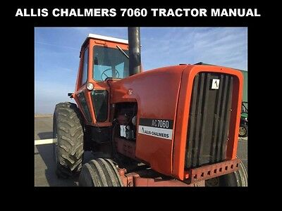 Allis Chalmers Ac 7060 Tractor Implement Manuals Set W Ac7060
