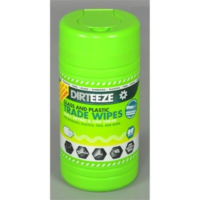 Dirteeze Glass And Plastic Jumbo Wipes, Pack 80