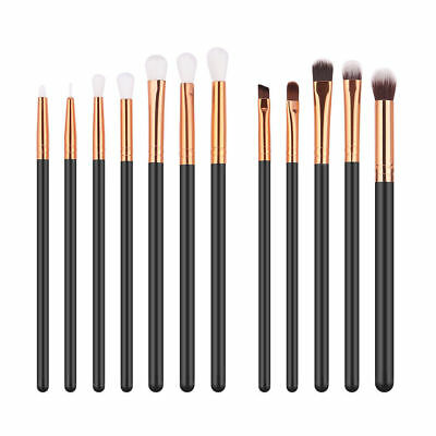 12pcs Eyeshadow/Concealer/Eyeliner/Blending/Eyebrow Eye Lip Brush Set