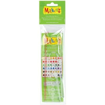 "Makin's Clay Mixing Ruler 8""- - Makins Usa Acrylic 8inch"