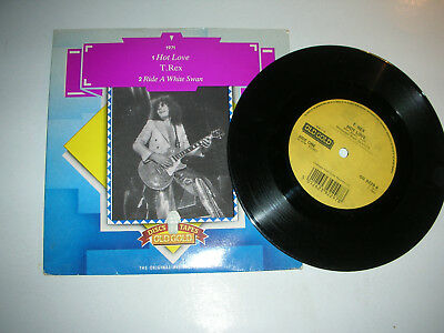 T.rex - Hot Love / Ride A White Swan...in Picture Sleeve