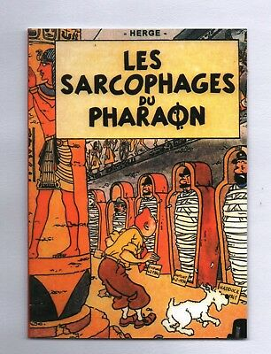 Carte Postale Tintin. Les Sarcophages du Pharaon. PASTICHE. The New Library 2018