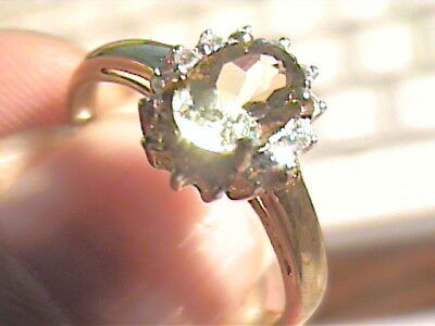 STERLING SILVER 925  Ring 7 lemon Citrine Natural solitaire sapphire dainty smal