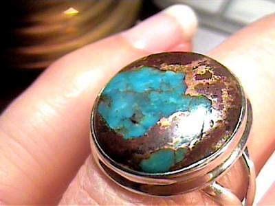 Natural turquoise 925 Sterling Silver Ring 7.5