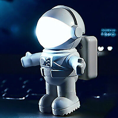Astronaut Spaceman LED USB Flexible Night Light Laptop PC Notebook Reading Lamp