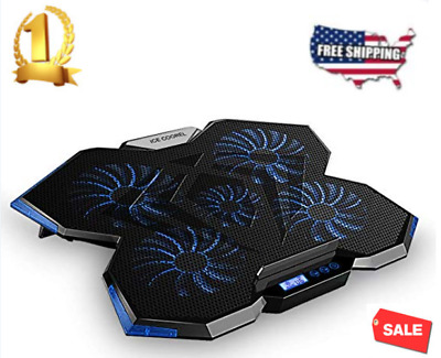 Laptop Cooling Pad with 5 Quiet Fans for 12-17.3 Inch Laptop Cooler  2 USB port