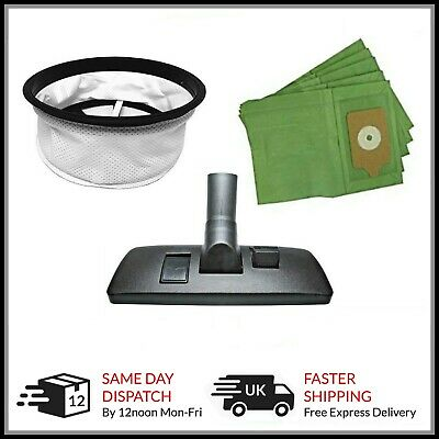 1 x FILTER  5 x PAPER BAGS 1x FLOOR TOOL for Numatic Henry Hetty James Hoover