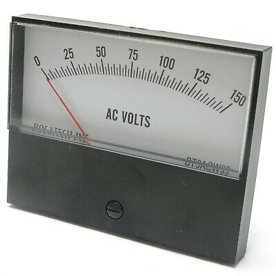 Panel Meter, 0 - 150 AC Volt Meter. 95 x 75mm