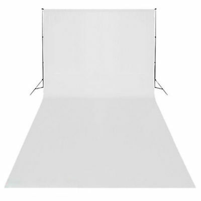 3m x 6m White Backdrop Photography Studio Background 10x20ft For Lighting Stand