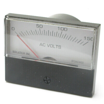 Panel Meter, 0 - 150 AC Volt Meter. 75 x 58mm