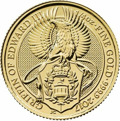 ++ Queens Beast - Griffin of Edward III - 2017 - 1/4oz Gold  ++