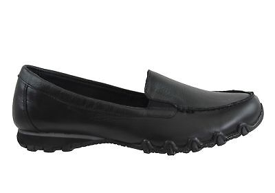 New Skechers Bikers Lamb Relaxed Fit Womens Leather Shoes