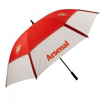 Arsenal Football Club Red & White Double Canopy Golf Umbrella Free UK P&P