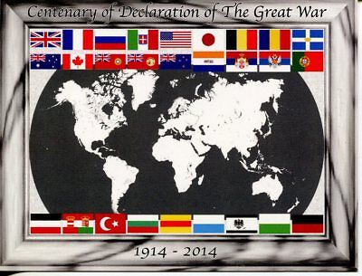 Postcard - WWI Centenary - Declaration of the Great War - 1914