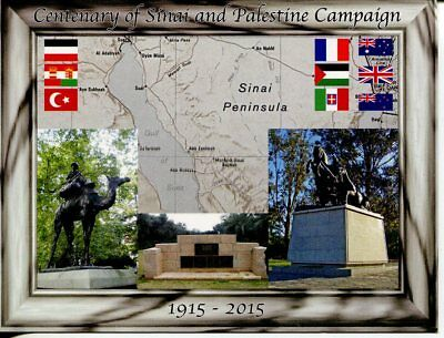 Postcard - Centenary of WWI - Sinai and Palestine Campaign