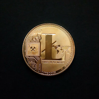 Silver/Gold Plated LTC Coin Commemorative Physical Litecoin Collectible Coin