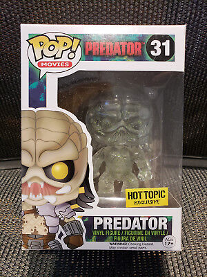 Funko Pop! Movies Predator Clear Green Bloody Hot Topic Exclusive #31 (B)