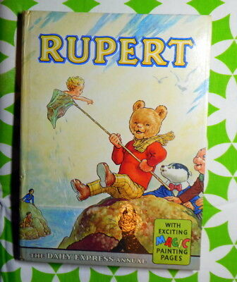 Original 1963 vintage Rupert annual no MP`s done! Unclipped! No puzzles done!