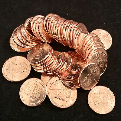 2009D Lincoln Cent Penny Birth Place Cabin 1 Roll Of 50 Pennies Uncirculated