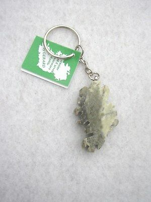 Map of Ireland Key Ring, Connemara Marble by Gerard