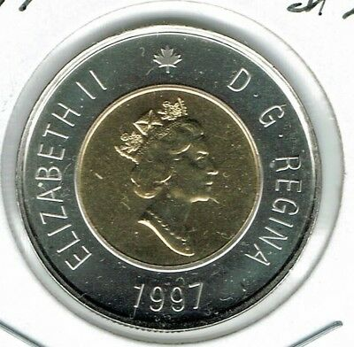 1997 Canadian Proof Like Uncirculated $2 Toonie coin!