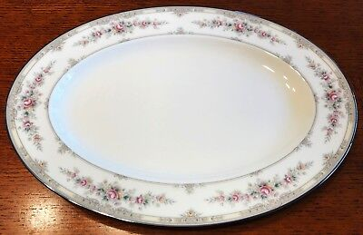 Noritake Shenandoah Oval Platter(s 14 Inches #9729 Bone China Floral Yellow Band