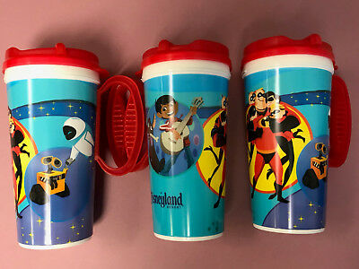 Disney Park DLR 2018 Pixar Fest Coco Wall-E Incredibles Travel Coffee Cup Mug