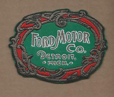 New 3 1/8 X 4 1/8 Inch Color Ford Motor Co Iron On Patch Free Shipping