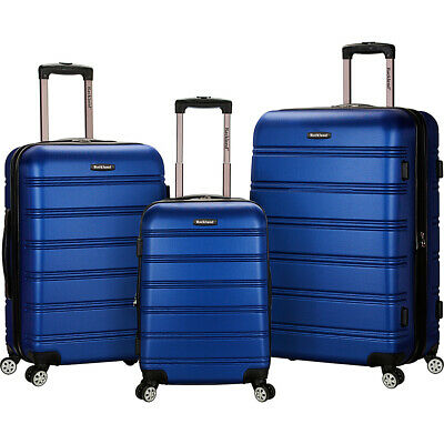 Rockland Luggage Melbourne 3-Piece Hardside Spinner Luggage Set NEW