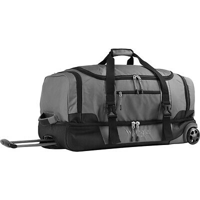 "Wrangler 30"" 2-Section Drop Bottom Rolling Duffel Travel Duffel NEW"