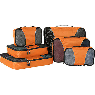 eBags Classic Packing Cubes - 6pc Sampler Set 8 Colors Travel Organizer NEW