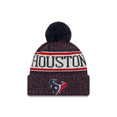 570f6a8a6b9 New Era NFL Houston Texans Bobble 2018 2019 Sport Knit Sideline Beanie Hat