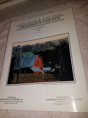 1996 Plat Book of Champaign  County Illinois  Maps Farm History
