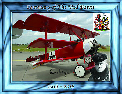 Postcard - Centenary of the Death of the Red Baron (Manfred Richthofen) (1918)