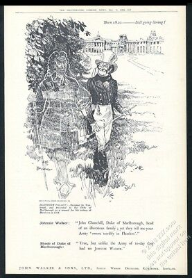 1922 Johnnie Walker Scotch Whisky Duke of Marlborough ghost UK print ad
