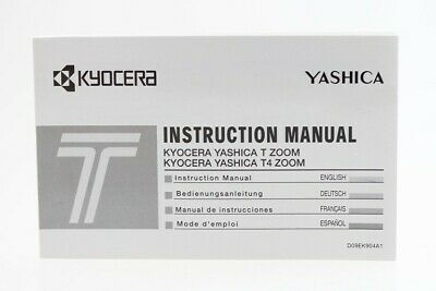 Bedienungsanleitung Yashica Kyocera T Zoom / T4 Zoom Instruction Manual