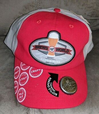 Disney Parks Brews around the world ball cap Hat Epcot  Food & Wine Festival NEW