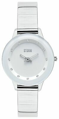 STORM Ladies Exclusive Silver Tone Strap Stone Set S/Steel Case Analogue Watch