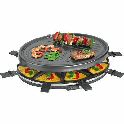 CLATRONIC Raclette-Grill RG 3517 schwarz Raclettegrill Raclette Partygrill NEU