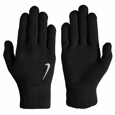 Nike Knitted Gloves Junior Football Running Training Sports Cold Weather Winter