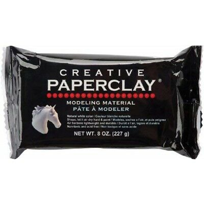 Creative Paper Clay, 8 Ounces, White - Paperclay Oz Liquid